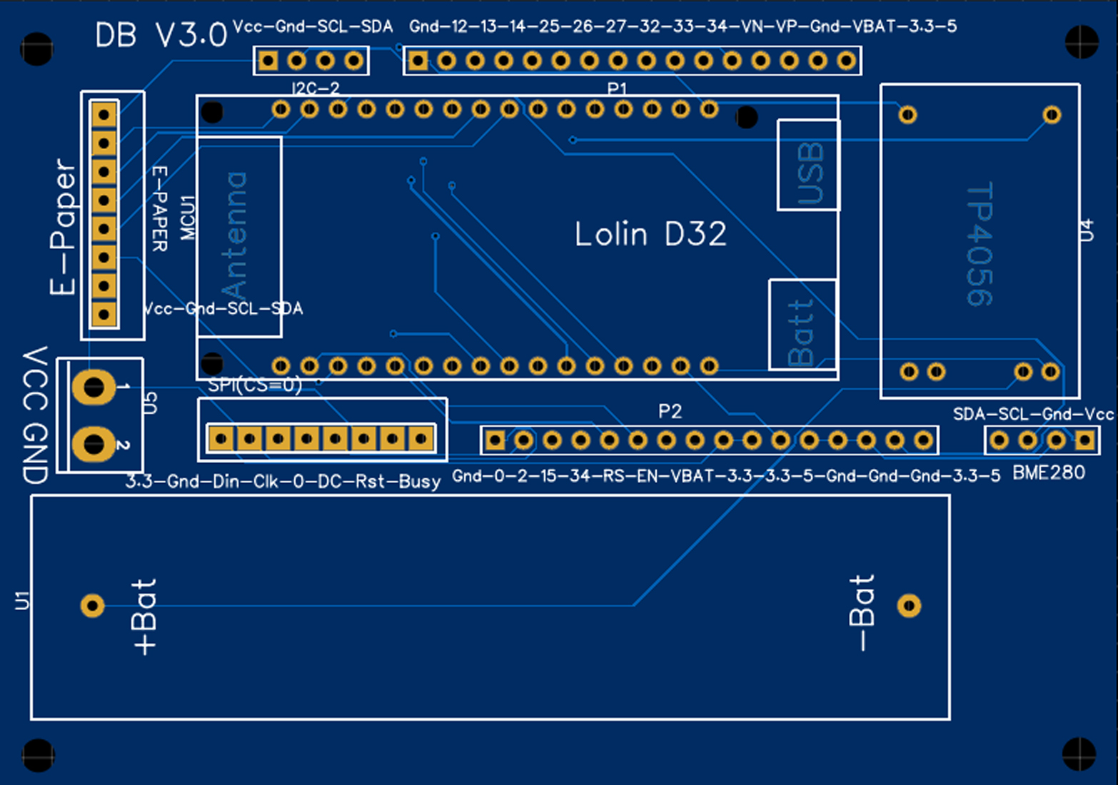 ESP32 D32 V3 Carrier Board