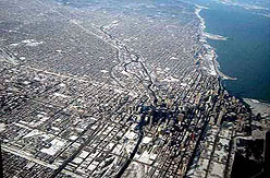 Chicago Downtown Aerial View